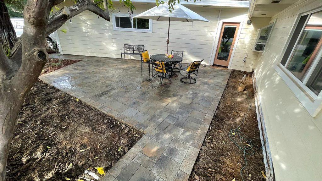 custom stone patio Denver
