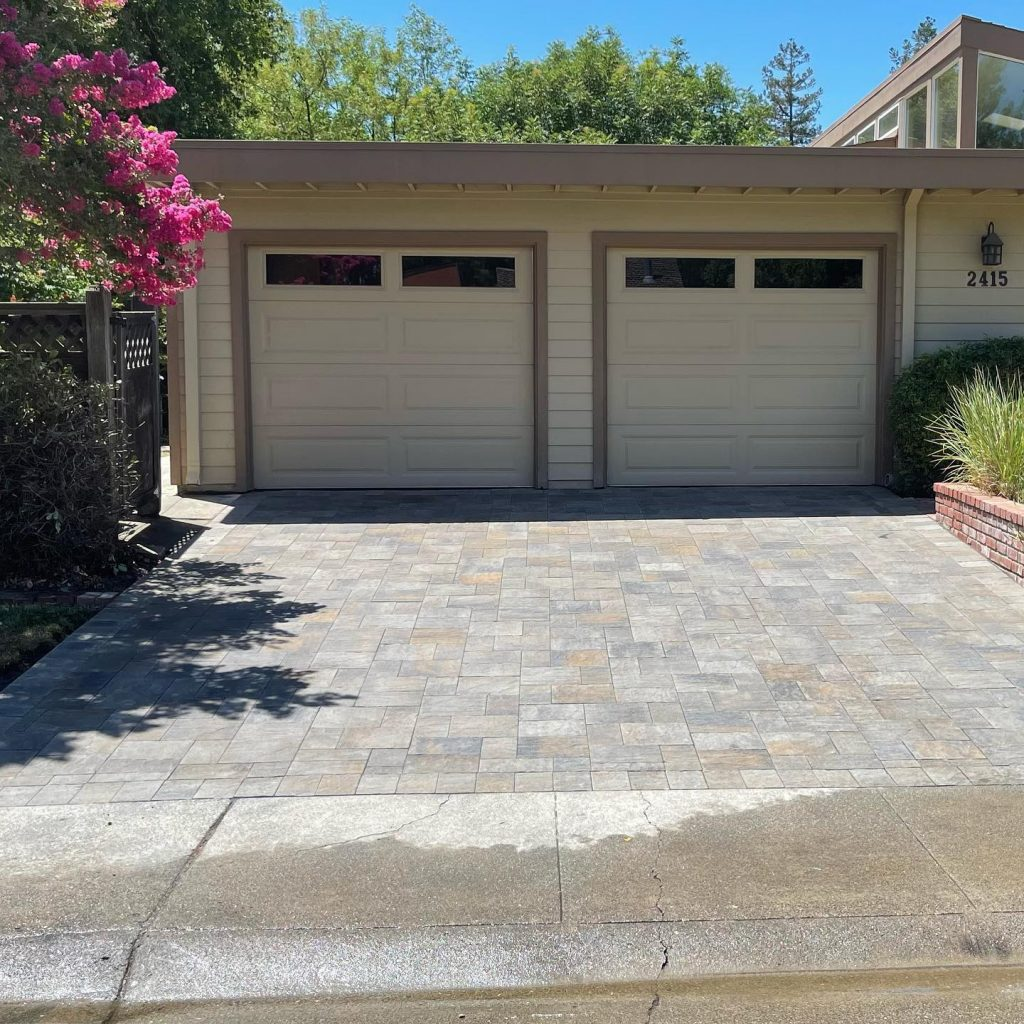 Stone paver driveway installed for a client in Denver, Colorado