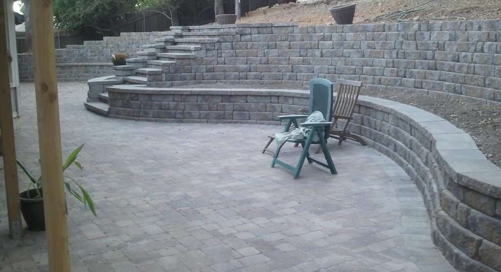We installed this goreous retaining wall for one of our customers in Denver.