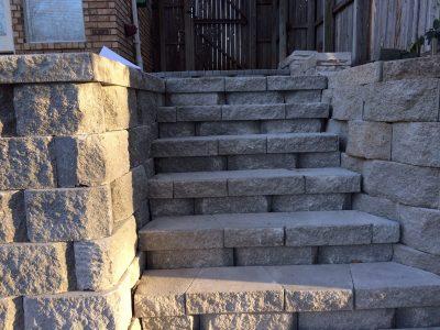 Stone paver walkway Denver